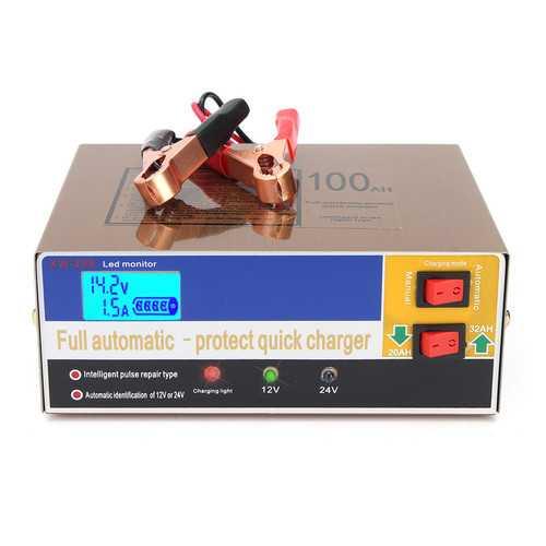 110V 12V/24V 100AH Electric Battery Charger Intelligent Pulse Repair Type