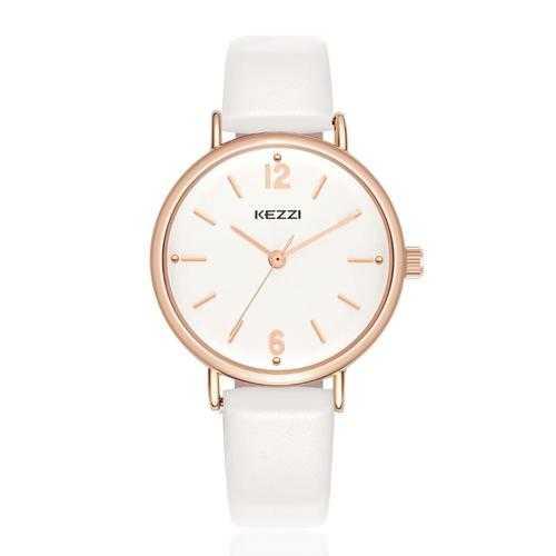 Fashion Simple Style Watch Leather Strap Women Quartz Watch