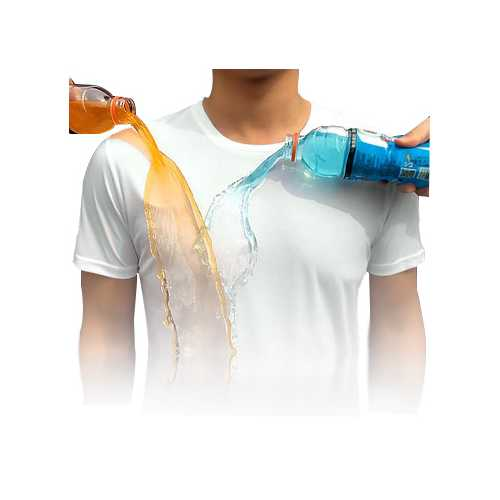 BEVERRY Men Short Sleeve Creative Hydrophobic Waterproof Breathable Anti- fouling Thin T-shirt