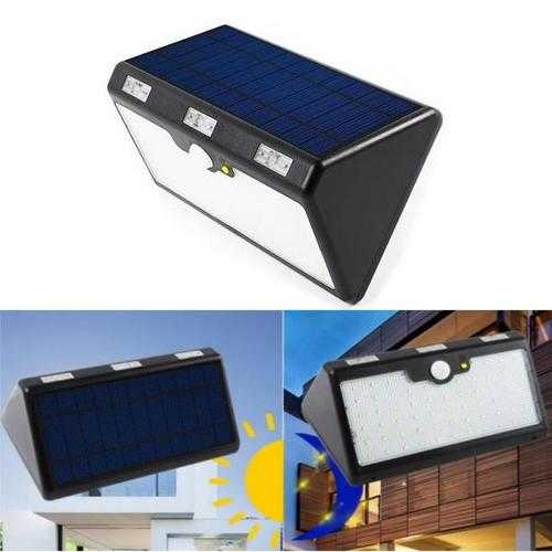11W Motion Sensor Rechargeable IP65 Waterproof 60 LED Solar Lamp for Patio Yard Lighting DC3.7V