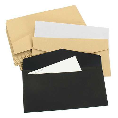 50Pcs Vintage Blank Paper Envelopes for Package Gift Bank Card