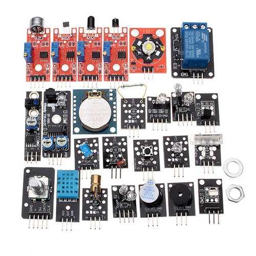 24 In 1 Sensor Module Board Starter Kits Plastic Bag Package