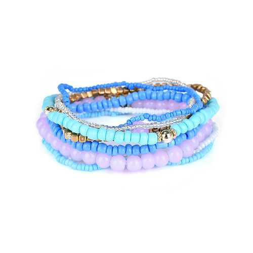 Bohemian Women's Colorful Multilayer Adjustable Beads Bracelets Best Gift for Girl