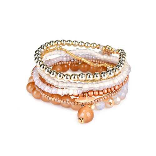 Bohemian Women Bracelet Crystal Beads Multilayer Bracelets Gift for Women