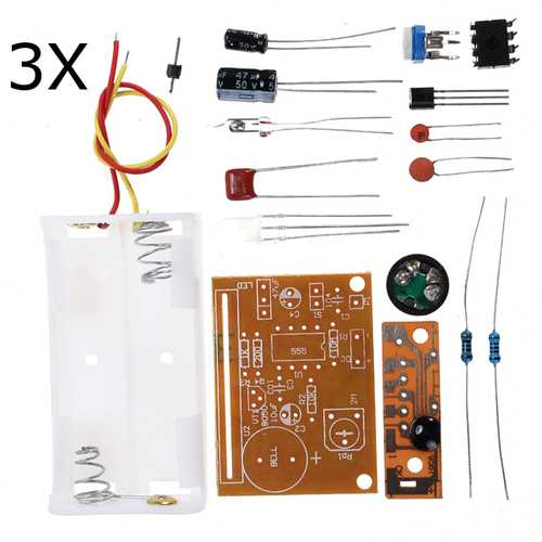 3Pcs DIY Touch Vibration Alarm Kit Electronic Training Teaching