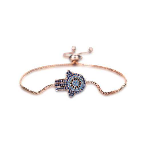 Fashion Colorful Zircon Adjustable Charm Bracelets For Women
