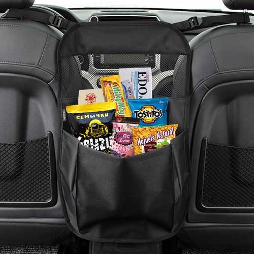 55x38cm Car Partition Storage Bag Seat Central Storage Bag In-vehicle Storage Safety Barrier