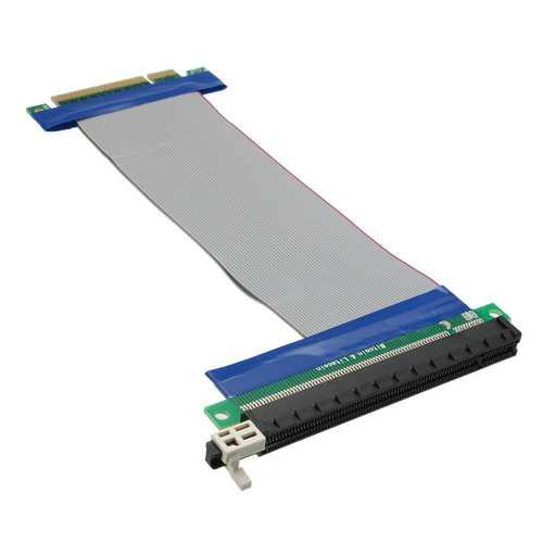 20cm PCI-E Express 8x to 16x Extension Cable Flex Ribbon