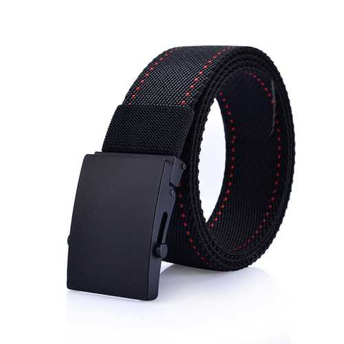 125CM Men Nylon Alloy Buckle Belt Outdoor Sport Military Durable Pants Strip