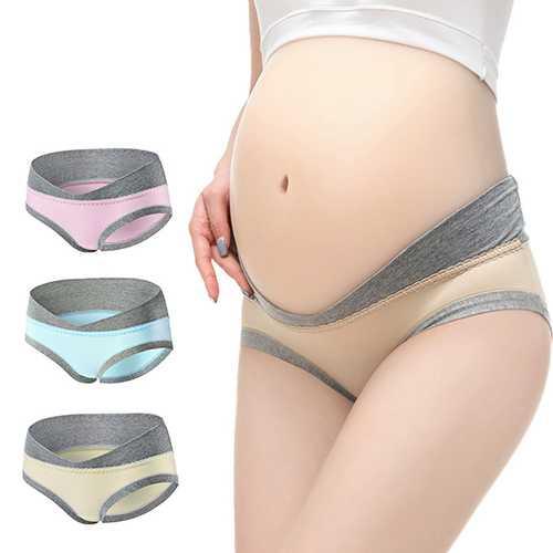 Cotton Pregnant Plus Size Comfort Low Waist Breathable Sleepwear Panties