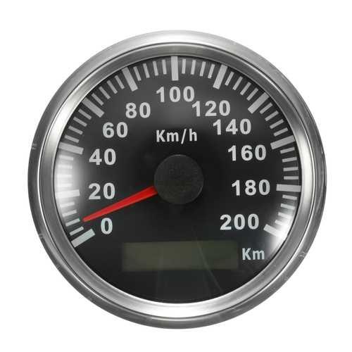 200 KM/H GPS Speedometer Waterproof Digital Gauges Car Motorcycle Auto Stainless