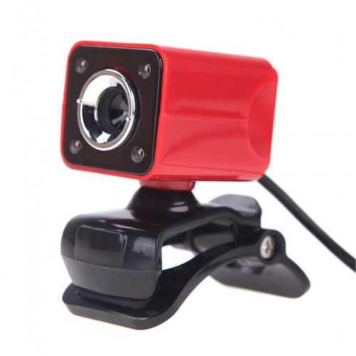 A862 360º Rotating HD 12.0M Pixels 4 LED lights Webcams for Laptop PC