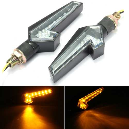 12V Universal Motorcycle 10LED Turn Signal Indicators Lights Lamp Blinker Amber