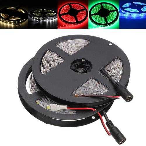 5M SMD5050 300LEDs Flexible Strip Tape Light Non-Waterproof with DC Connector DC24V