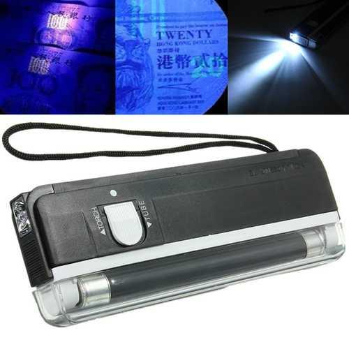 2 in 1 Portable UV Light Handheld Money Detector Flashlight