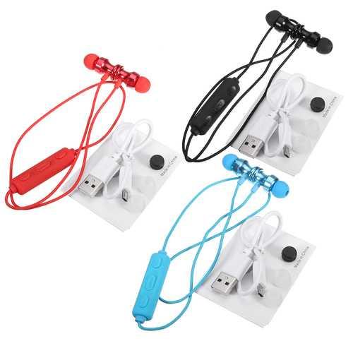 bluetooth V4.1 Magnetic Earphone In-Ear Wireless Sports Stereo Earbuds Headphone