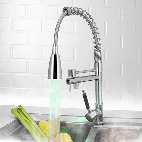 KCASA KC-LF56 LED Temperature Sensor Tap Accessory No Battery Water Faucet Glow Chromate & ABS