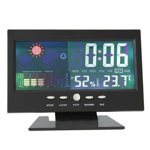 Color LCD Screen Calendar Digital Clock Car Thermometer Weather Forecast