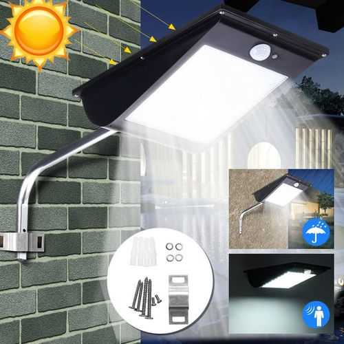10W Waterproof 81LED Solar Light Sensor Street Light Parking Porch Dim Wall Lamp White Light