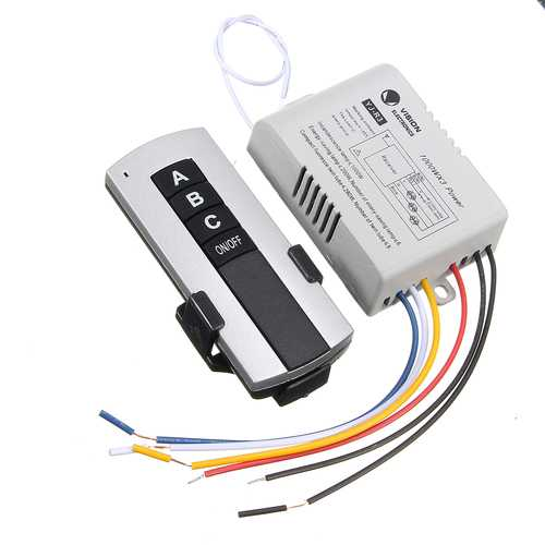 1/2/3 Channel Wireless Wall Lamp Switch Splitter Remote Control Receiver Transmitter