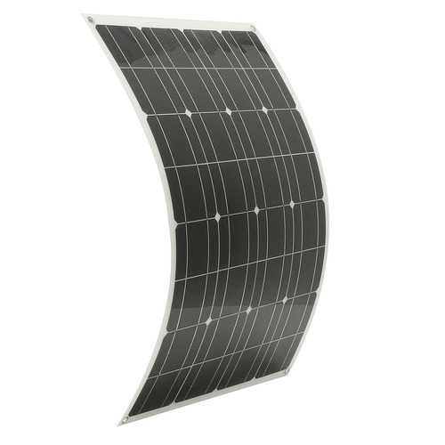 80W 12V Semi Flexible Waterproof Solar Panel With 1.5m Cable