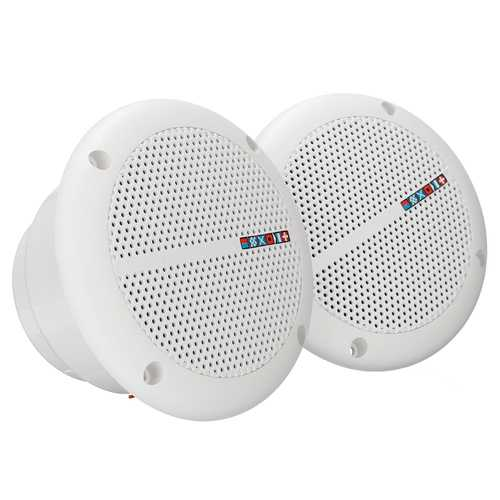 1 Pair Waterproof Marine Boat Ceiling Speakers Kitchen Bathroom Water Resistant