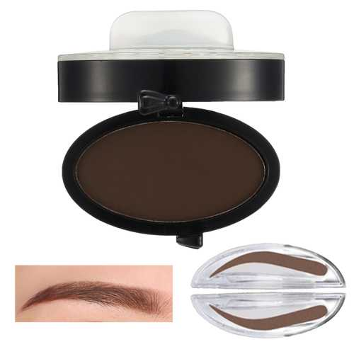 Eyebrow Stamp Powder Enhancer Mineral Brown Makeup Pigments Cosmetic Palette Definition Arched Shaped