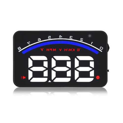 GEYIREN M6 Car HUD Head Up Display  OBD2 EUOBD Car Driving Data  Speed RPM Water Temperature