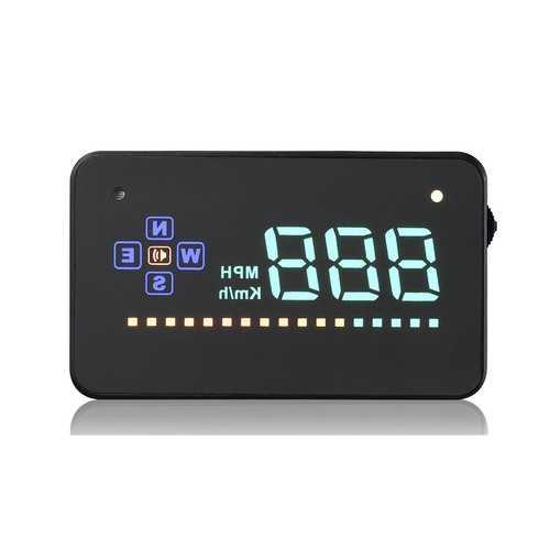 GEYIREN A2 3.5 Inch Auto Vehicle GPS HUD Head Up Display Speedometers Overspeed Warning