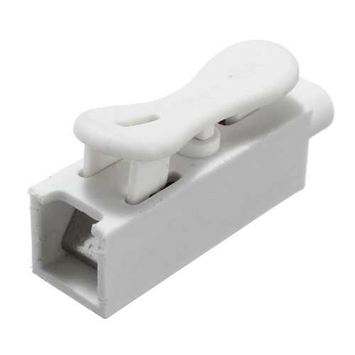 1 Pin Quick Fix Push-in Clip Spring Connector Cable Terminal Block for 3528 5050 LED Strip