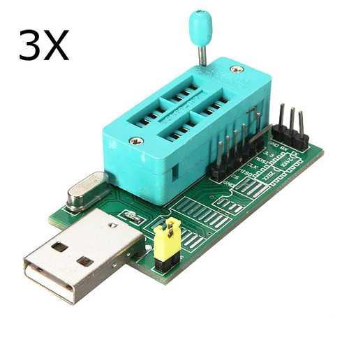 3Pcs CH341A 24 25 Series EEPROM Flash BIOS DVD USB Programmer