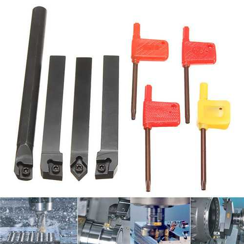 4pcs 12mm SCLCR1212H09 SCLCL1212H09 SCMCN1212H09 S12M-SCLCR09 Lathe Turning Tool Holder for CCMT Ins