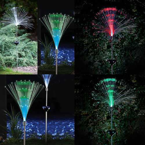 1.2V 2pcs Solar Power Color Change Path Lights LED Garden Lawn Spot Lamp Outdoor Yard