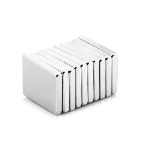 10Pcs 20 x 15 x 3mm N38 Powerful Creative NdFeB Cube Magnetic Toys For Kid Adult DIY