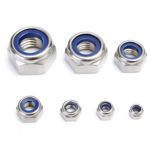 165Pcs Stainless Steel Nylon Insert Locknut Assortment Kit M3 - M12