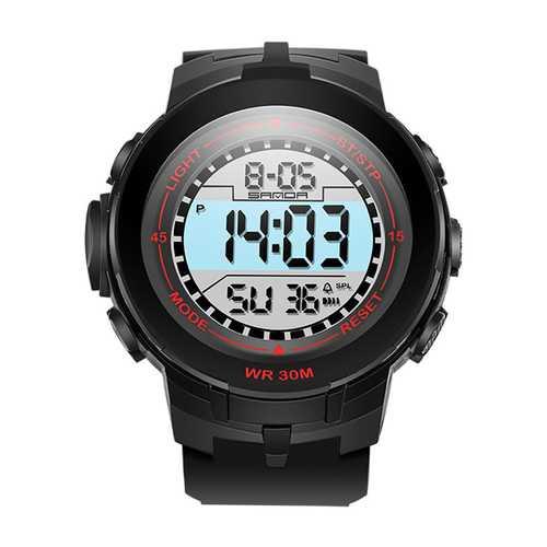 SANDA 340 Men Stopwatch 30M Waterproof Digital Watch