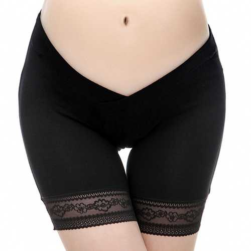 Women Comfortable Seamless Boyshort Underwear Hip Lifting Elastic Maternity Panties