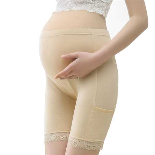 Cosy Lace-trim Modal High Waist Hip Lifting Adjustable Thin Breathable Maternity Pants