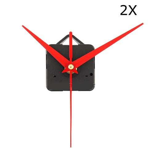 2Pcs DIY Red Triangle Hands Quartz Wall Clock Movement Mechanism