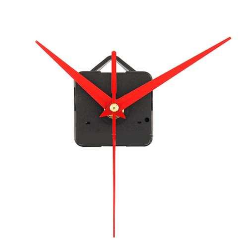 10Pcs DIY Red Triangle Hands Quartz Wall Clock Movement Mechanism