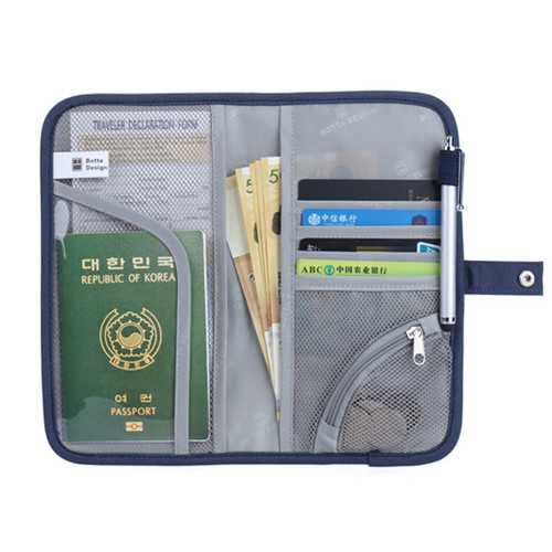Portable Travel Zipper Passport Bags Waterproof Card Holder Coin Bags