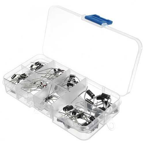 100 Pcs Diodes Kit Rectifier Schottky 1N4007 1N4148  1N5817 1N5408 1N5822 1N5399 FR107 FR207 In Component Box