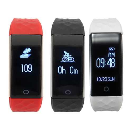 bluetooth S2 0.96 inch Smart Heart Rate Sport Fitness Tracker Wristband Bracelet