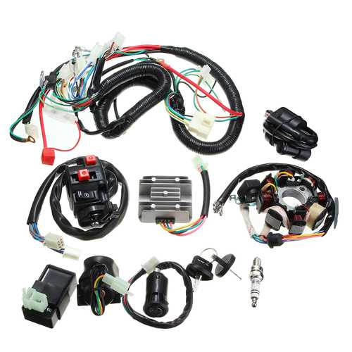 125cc 150cc 200cc 250cc Quad Electric CDI Coil Wire Harness Stator Assembly Wiring Set