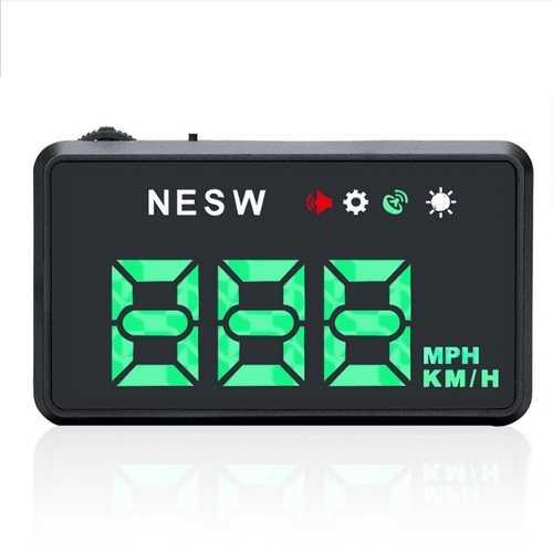 GPS HUD Digital Head-up Display Car Truck Speedometer Warning Navigator