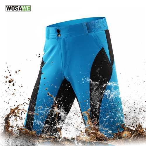 WOSAWE Leisure Cycling Shorts Waterproof Quick-Dry Sports Trouser Downhill  Bike Bicycle Fitness