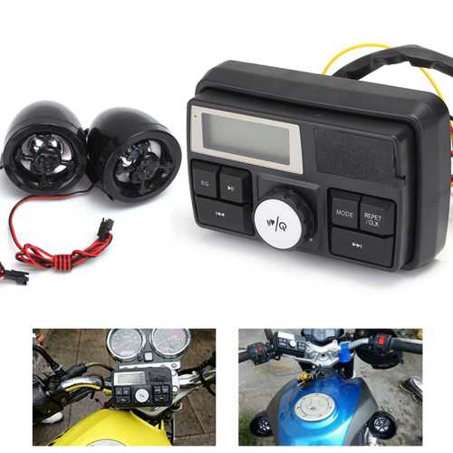 Motorcycle Handlebar Audio System USB SD FM Radio Stereo Amplifier Speaker MP3