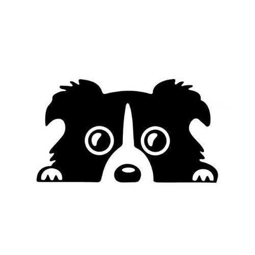 14x8cm Car Lovely Pet Dog Sticker Funny Decal Auto Bumper Window Body Decal