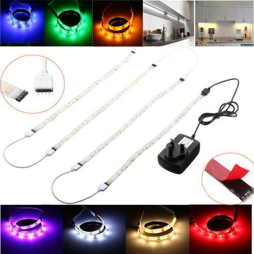 4PCS 30CM 5050 SMD White LED Strip Light Under Cabinet Kitchen Cupboard Lighting Set