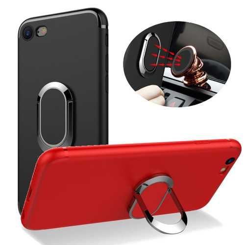 Bakeey™ 360° Adjustable Metal Ring Kickstand Magnetic Frosted Soft TPU Case for iPhone 6&6s 4.7 Inch